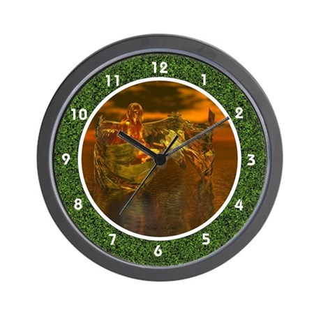 Golden Angel Wall Clock