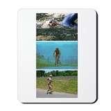 SOLO TRIATHLON TRIPTYCH PAINTING Mousepad
