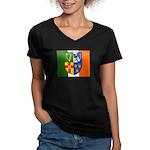 Four Provinces Flag Women's V-Neck Dark T-Shirt