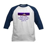 REACH OUT AND GRAB IT.. Kids Baseball Jersey