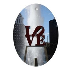 Love Park Holiday Ornament Oval