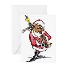 Cool Jazz christmas Greeting Card