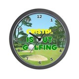 Cristal is Out Golfing - Wall Clock
