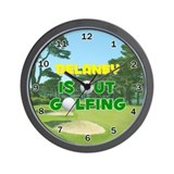 Delaney is Out Golfing - Wall Clock