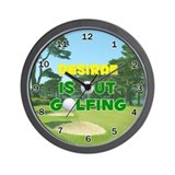 Desirae is Out Golfing - Wall Clock