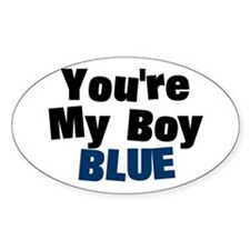 Your My Boy Blue Oval Decal