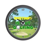 Destiney is Out Golfing - Wall Clock