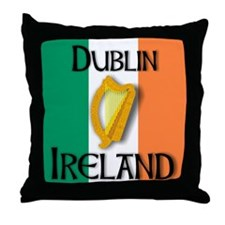 Dublin Ireland T shirts Throw Pillow
