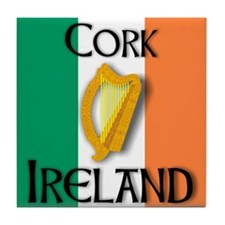Cork Ireland T Shirts Tile Coaster