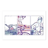 SOLO TRIATHLON TRIPTYCH LINE 1 Postcards (Package