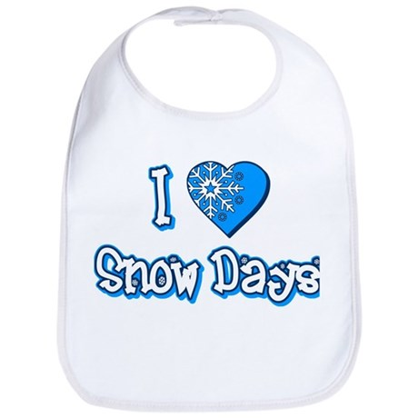 I Love [Heart] Snow Days Bib