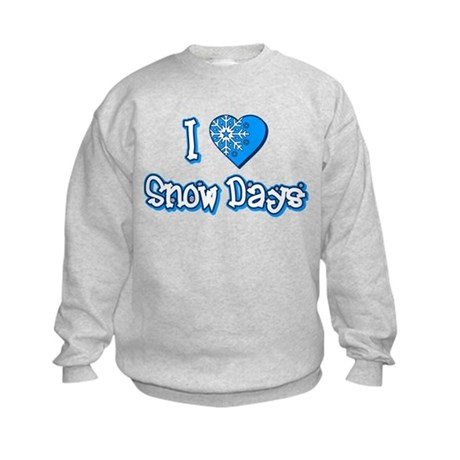 I Love [Heart] Snow Days Kids Sweatshirt