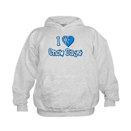 I Love [Heart] Snow Days Kids Hoodie
