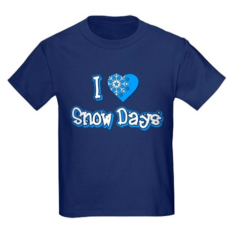 I Love [Heart] Snow Days Kids T-Shirt