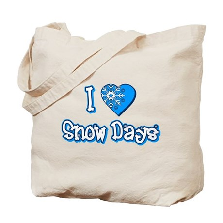 I Love [Heart] Snow Days Tote Bag