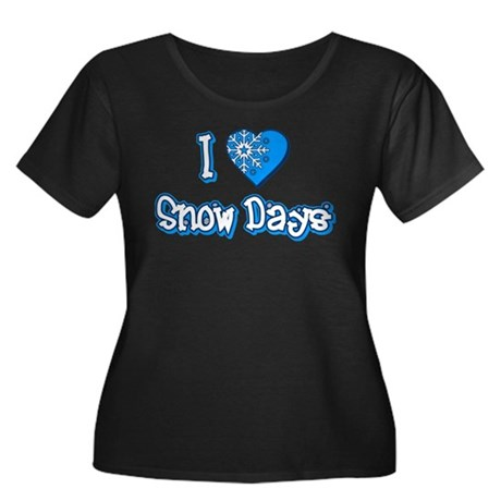 I Love [Heart] Snow Days Womens Plus Size Scoop N