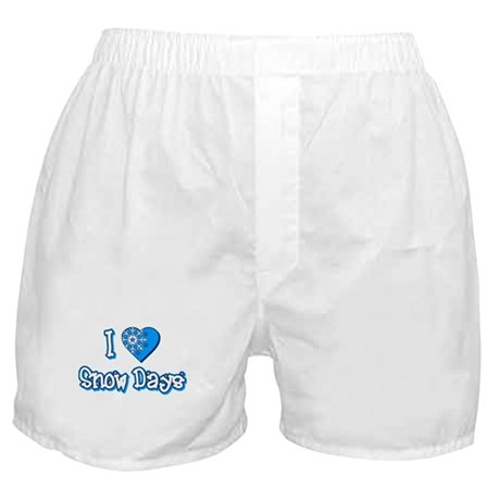 I Love [Heart] Snow Days Boxer Shorts