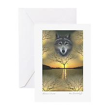 Wolf ~ 'Shaman's Dream' Greeting Card