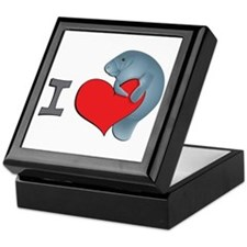 I heart manatees Keepsake Box