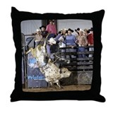 Shippy Rodeo Bulls Throw Pillow