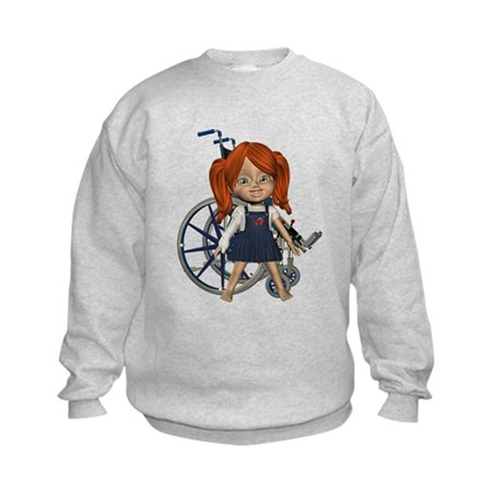 Broken Rt Arm Kids Sweatshirt