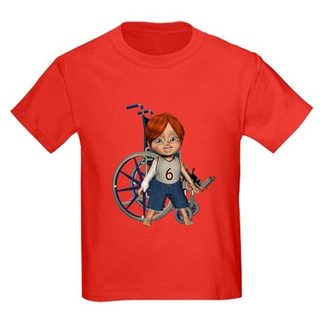 Kevin Broken Rt Arm Kids Dark T-Shirt