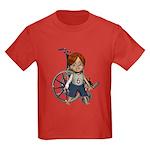Kevin Broken Rt Arm Kids Dark T-Shirt