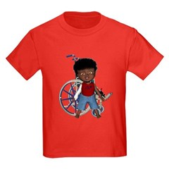 Keith Broken Rt Arm Kids Dark T-Shirt