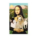 Mona / 3 Chihs Sticker (Rectangle)