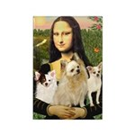 Mona / 3 Chihs Rectangle Magnet