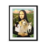 Mona / 3 Chihs Framed Panel Print