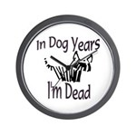 Dog Years Wall Clock