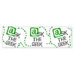 @sk the Geek Bumper Sticker