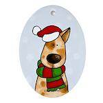 Australian Cattle Dog Oval Ornament