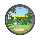 Izabella is Out Golfing - Wall Clock