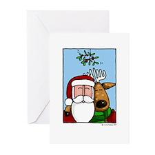 Santa and Reindeer Greeting Cards (Pk of 20)