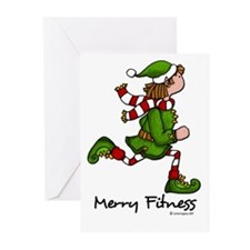 Merry Fitness II Greeting Cards (Pk of 10)