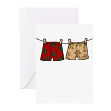 2 boxers Greeting Cards (Pk of 10)