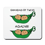 Grandad of Twins Again Mousepad