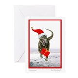 'Santasaurus' T-Rex Greeting Cards (10 pack) BLANK