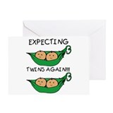 Expecting Twins Again Greeting Card