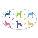 Great Dane Designer Oval Decal