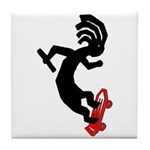 Kokopelli Skateboard Tile Coaster