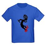Kokopelli Skateboard Kids Dark T-Shirt