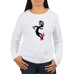 Kokopelli Skateboard Women's Long Sleeve T-Shirt
