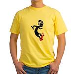 Kokopelli Skateboard Yellow T-Shirt