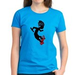 Kokopelli Skateboard Women's Dark T-Shirt
