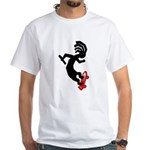 Kokopelli Skateboard White T-Shirt