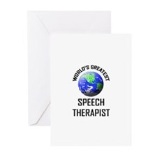 World's Greatest SPEECH THERAPIST Greeting Cards (