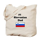 #1 Slovenian Dad Tote Bag